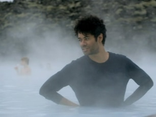 Richard in the Blue Lagoon Spa