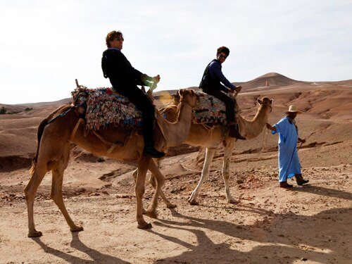 Richard and Stephen in Marrakech on Travel Man