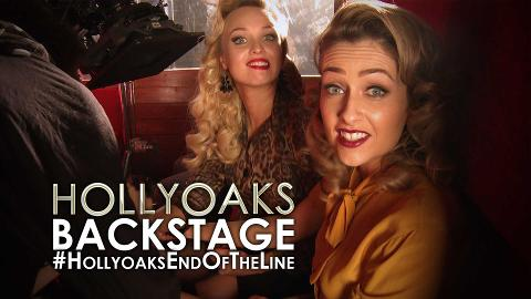 Backstage at the #HollyoaksEndOfTheLine C4 Promo