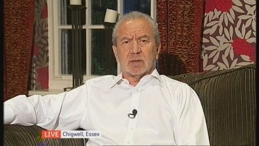 Lord Sugar: UK has been a 'soft-touch country'