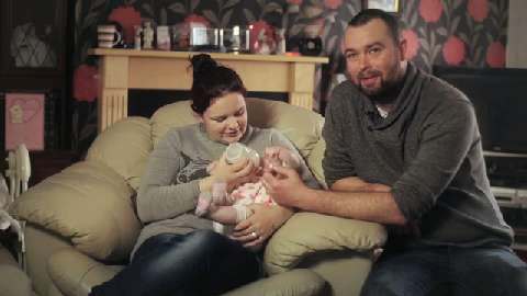 Jennifer and Darran with Lillie-Hope