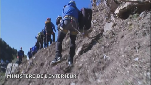 Latest footage from the Germanwings crash site