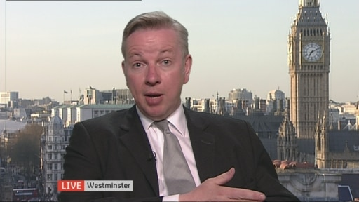 Michael Gove speaks to Jon Snow on social housing, tax and the NHS