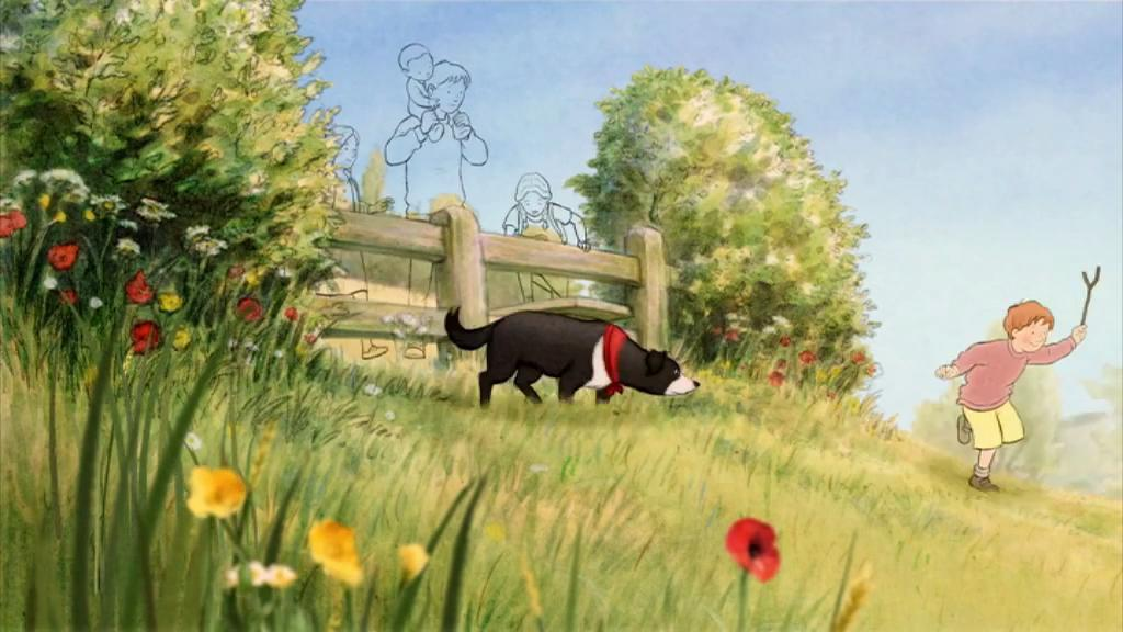 Painting the Bear Hunt: Grass