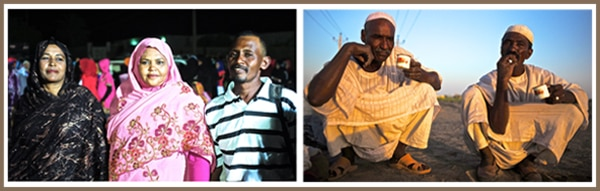 A photo of Moez and his family in Sudan and Awad and Ahmad - Sudan - Walking the Nile