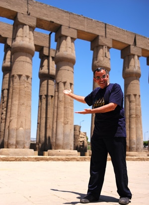 a photo of Ibrahim, Lev's guide in Luxor - Walking the Nile