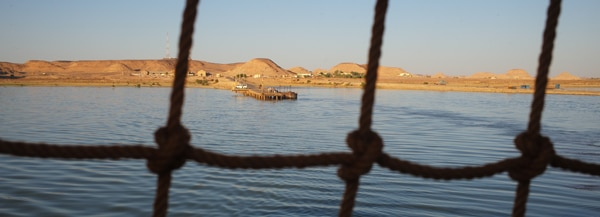 The view from the ferry leaving Sudan for Egypt - Walking the Nile