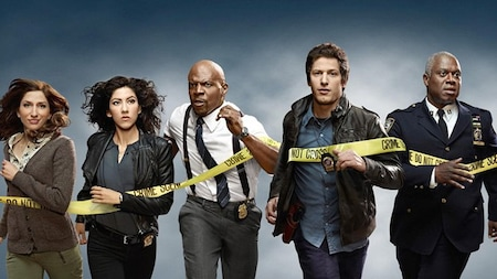 Brooklyn Nine-Nine: Gina, Diaz, Jeffords, Peralta and Holt