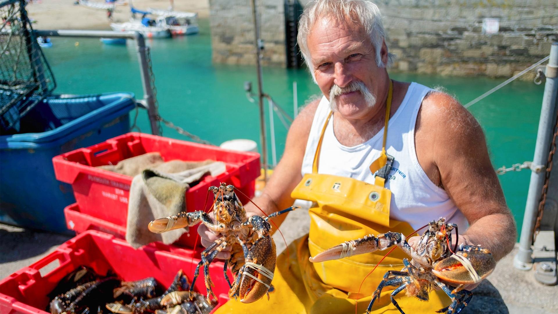 Fisherman on Devon & Cornwall TV programme