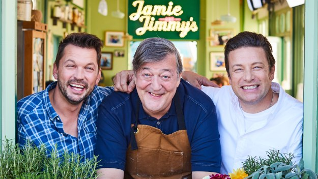 Jamie And Jimmy's Friday Night Feast - Stephen Fry & Apple Pie