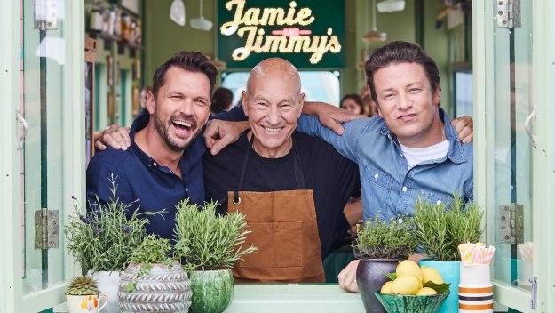 Jamie And Jimmy's Friday Night Feast - Burgers, Sir Patrick Stewart & Beer Grain