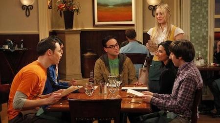 The Big Bang Theory: Sheldon sits down to dinner