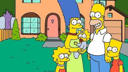 The Simpsons: Lisa, Marge, Maggie, Homer and Bart