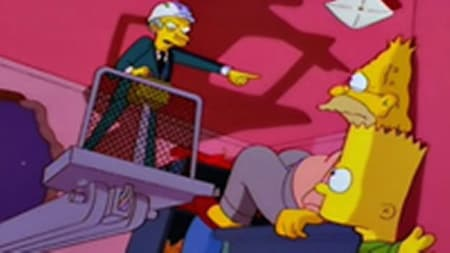 Bart and Grampa under attack from Mr Burns