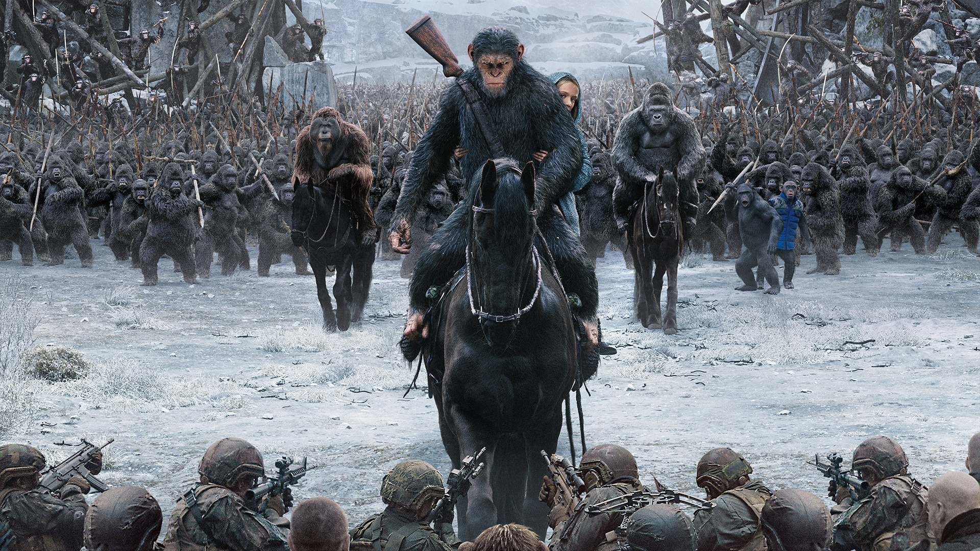 War For The Planet Of The Apes All 4